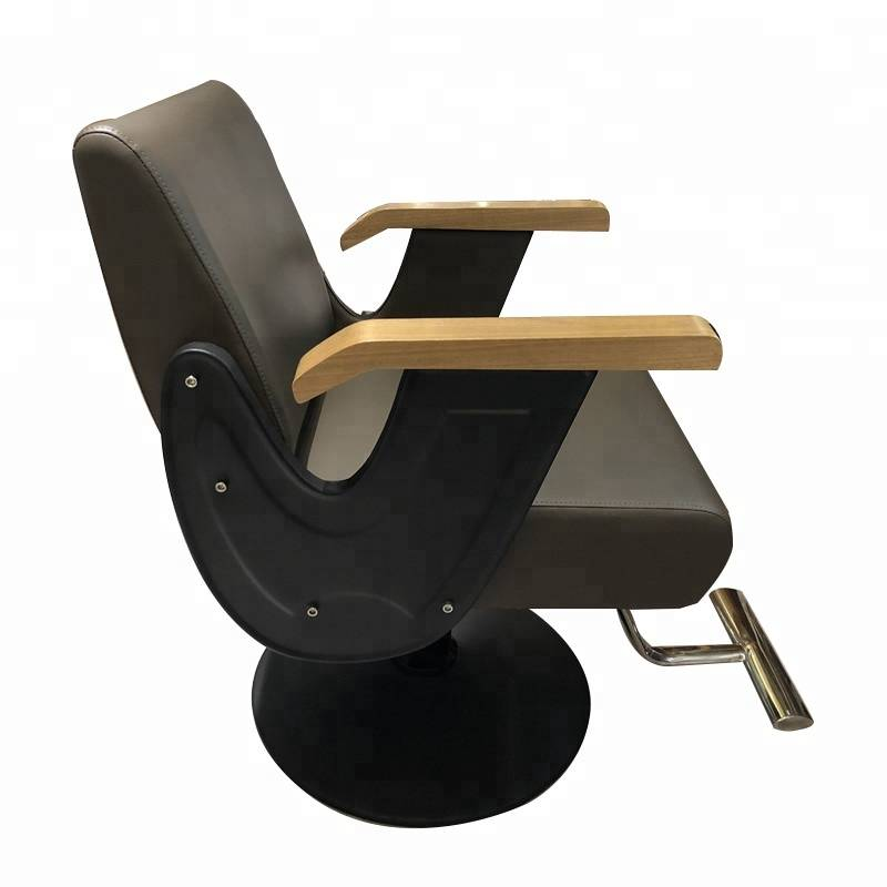 Adjustable backpillow synthetic leather hydraulic pump colored salon hair styling chairs parlor chair for beauty salons