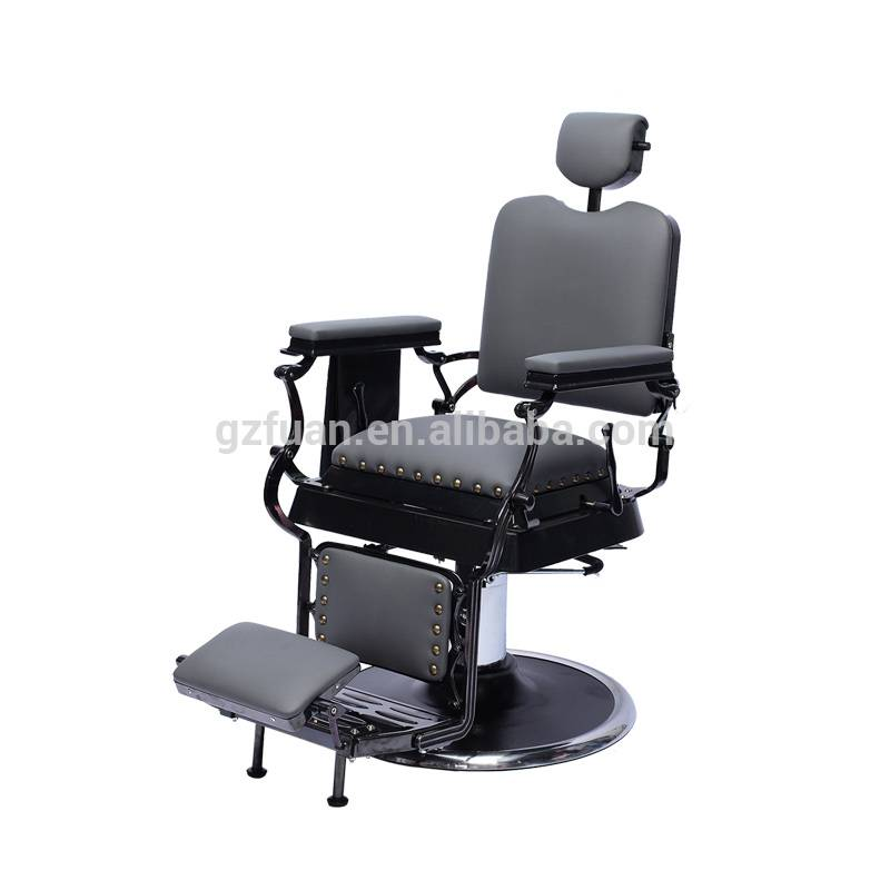Hair salon durable portable reclining backrest 360 degrees rotate pneumatic cylinder chair heavy duty barber styling chair