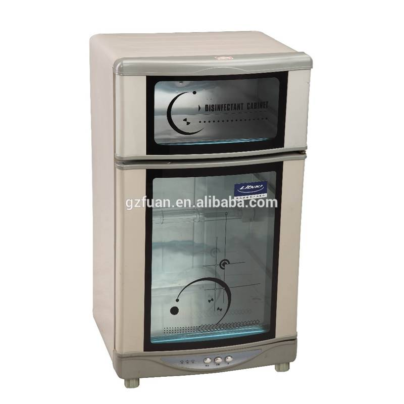 Two layers disinfection commercial hot towel nail tool infrared cabinet steam autoclave uv sterilizer for salon