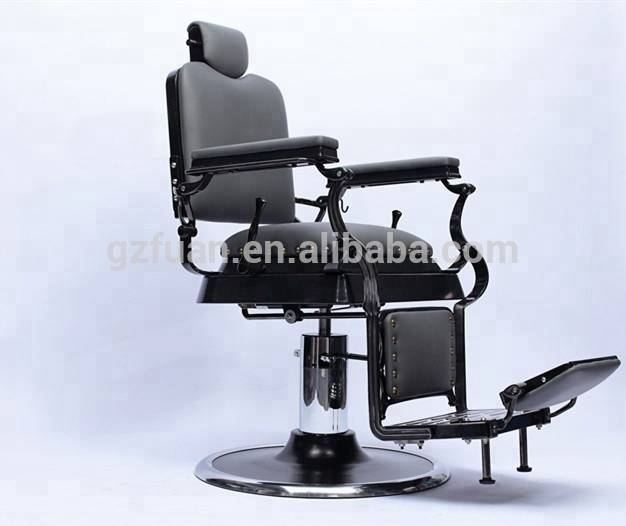 Heavy duty hydraulic pump 360 degrees rotates classic barber chair high quality black big barber chair