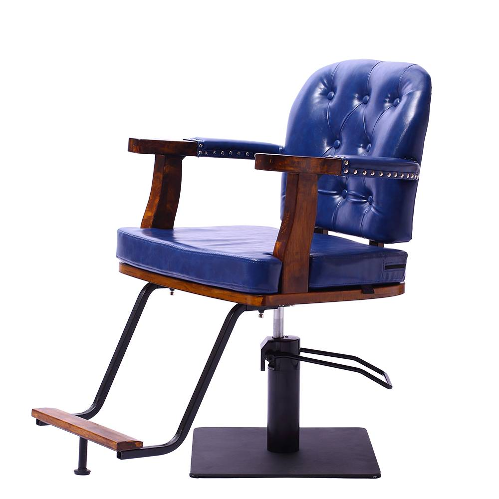 Modern style hair salon furniture synthetic leather blue styling barber chair salon chair
