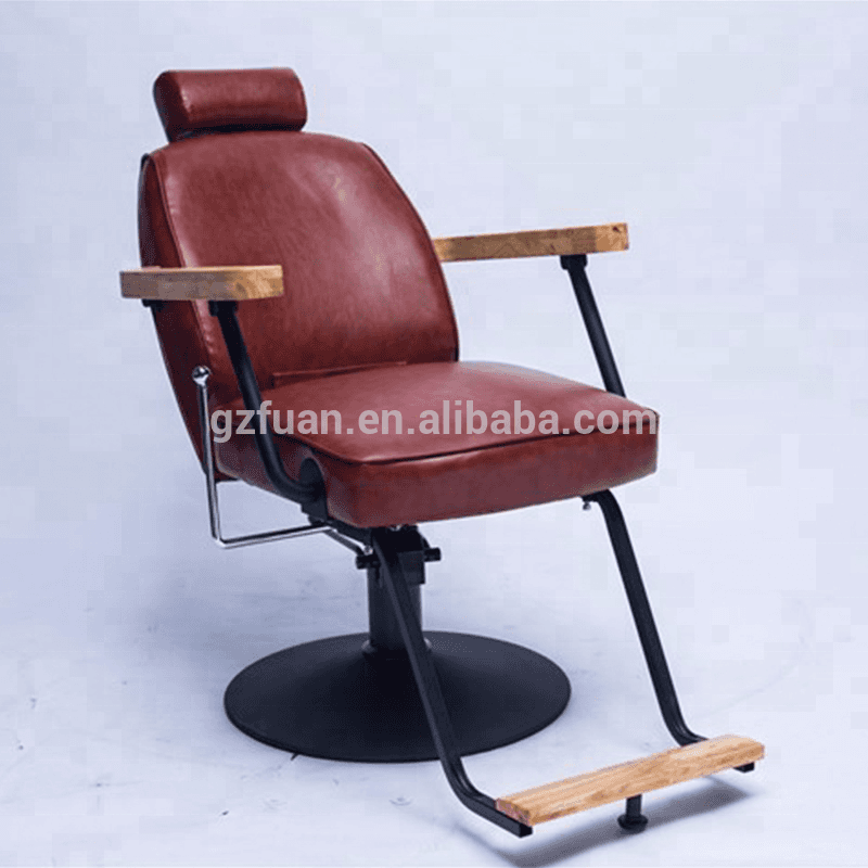 OEM Supply Barber Chair With Stainless Foot Rest -