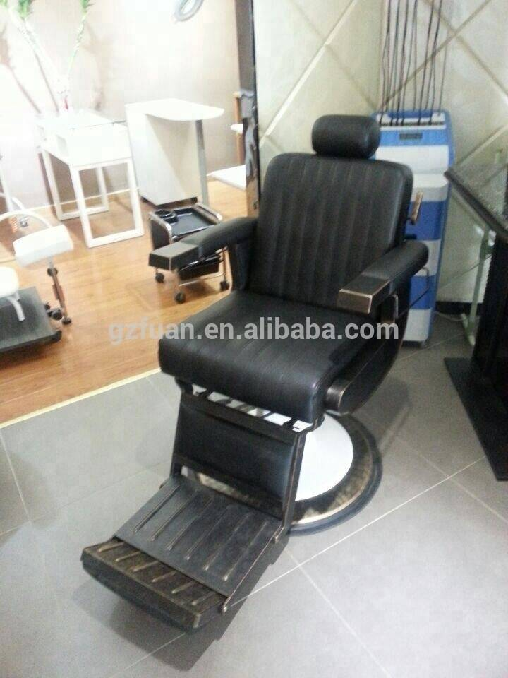 Wholesale prices hair beauty furniture antique black manual reclining men's salon chair barber shop chair manufacturer