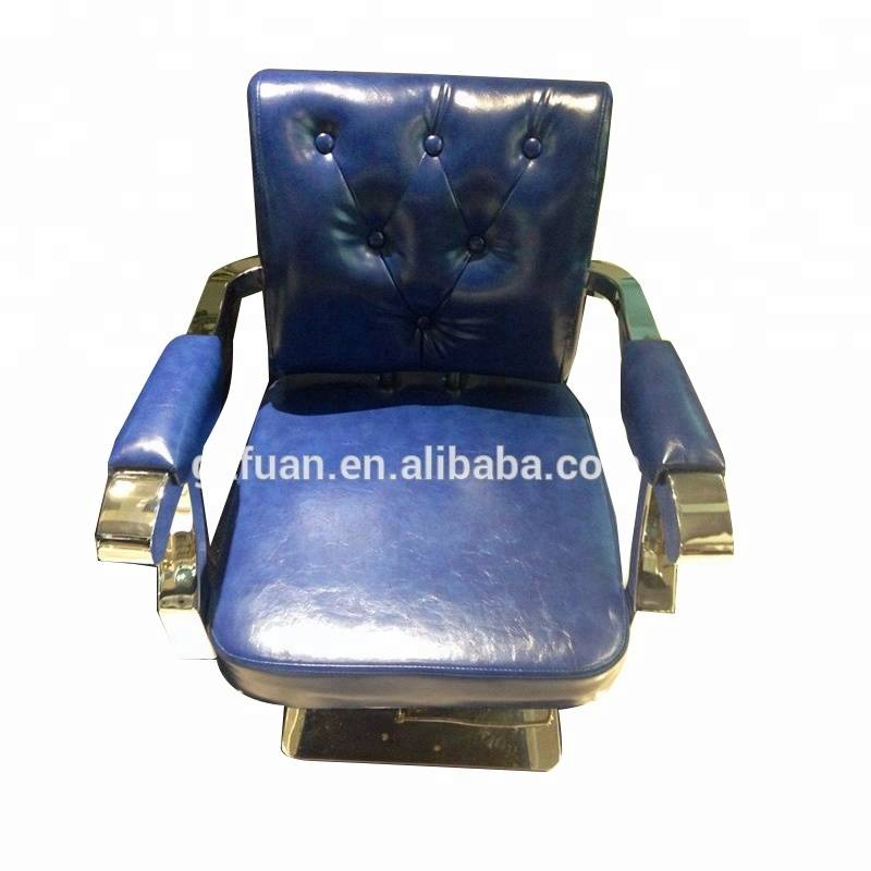 Modern vintage blue portable men's beauty salon barber chair stylist hairdressing styling chair for hair salon furniture
