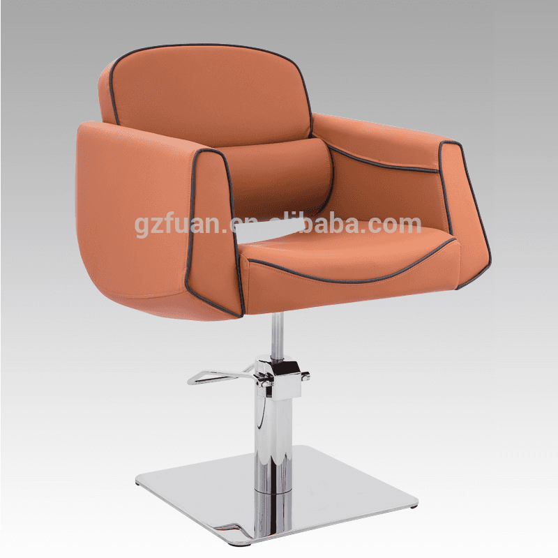 Good prices adjustable hydraulic pump brown salon barber chairs hairdressing chair