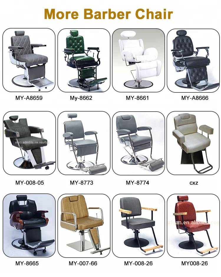 Wholesale salon furniture barber chair durable portable man's hair cutting chairs beauty hair styling chair salon