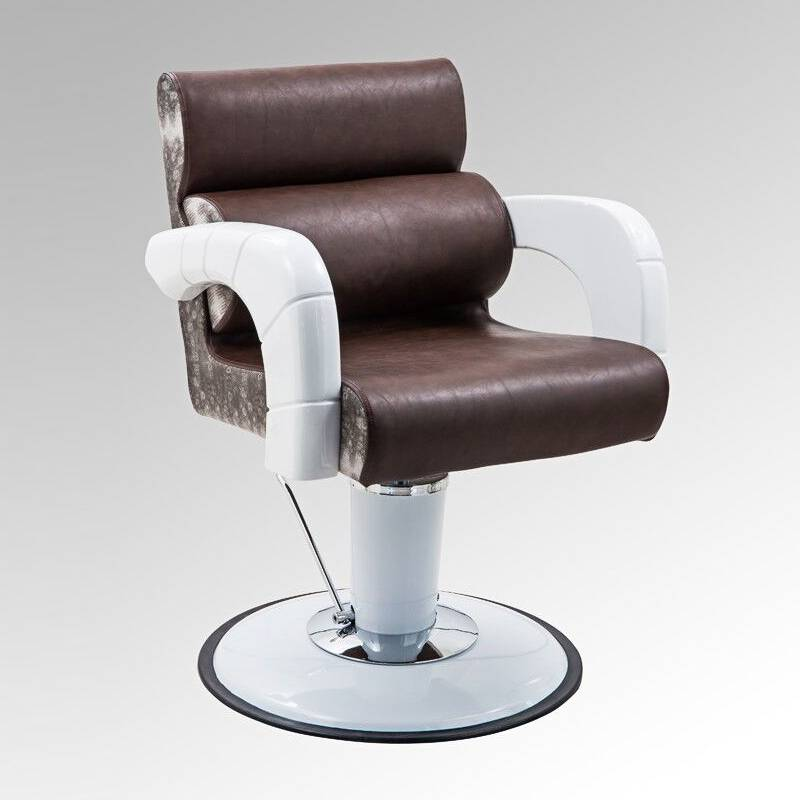Hair salon equipment suppliers stainless steel footrest filber glass armrest unique salon barber chairs beauty styling chairs