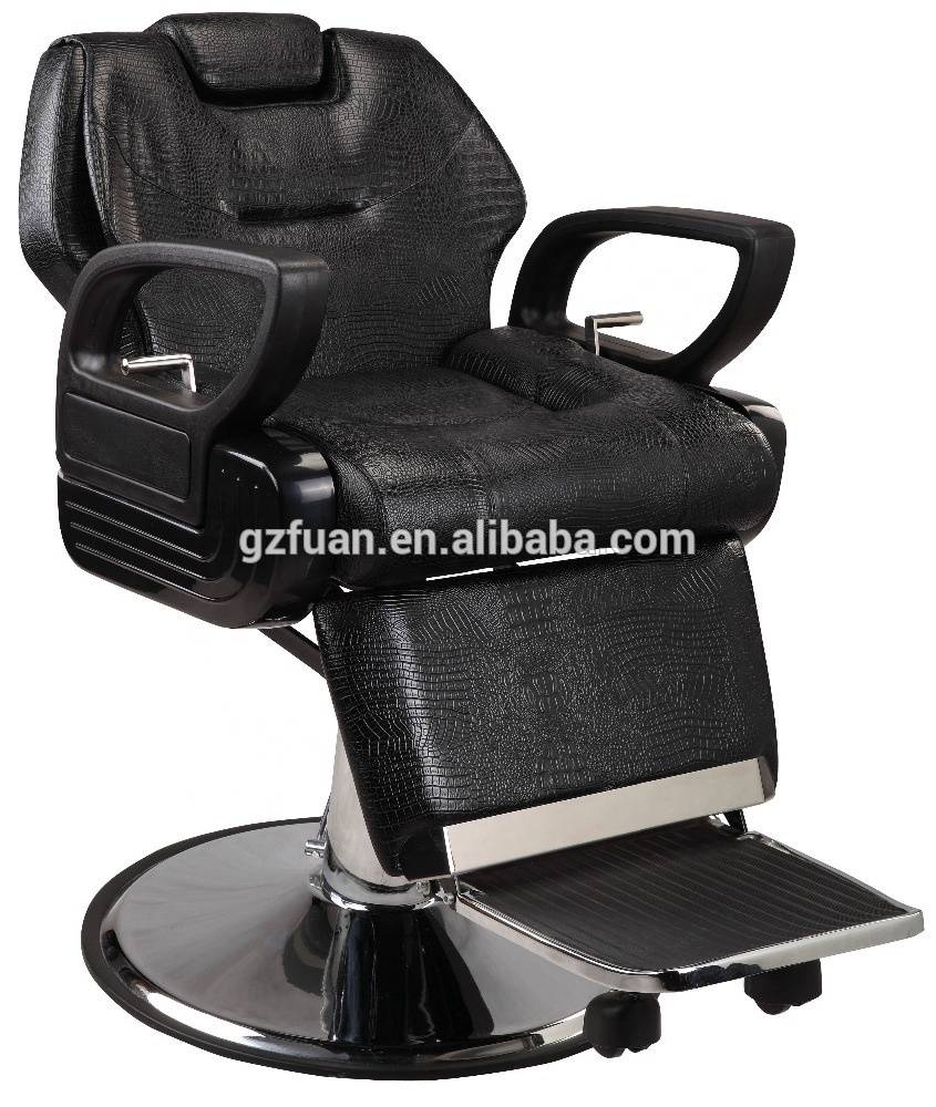 Wholesale cheap price big and strong footrest hydraulic old style classic black reclining styling salon chair barber chair