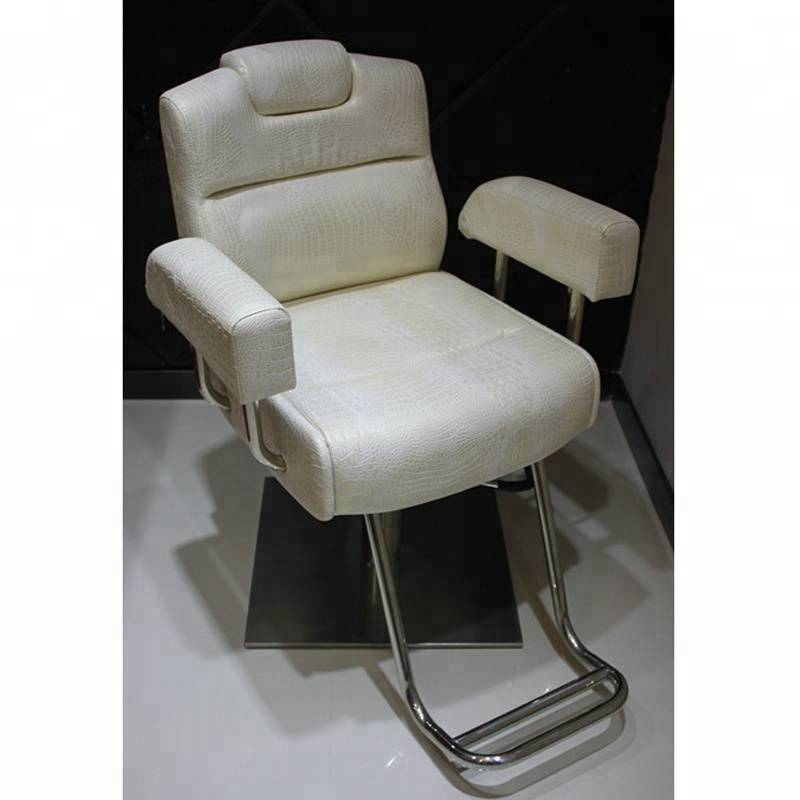 Wholesale cheap price beauty equipment hydraulic white salon chair hairdresser styling chair men women used barber chairs sale