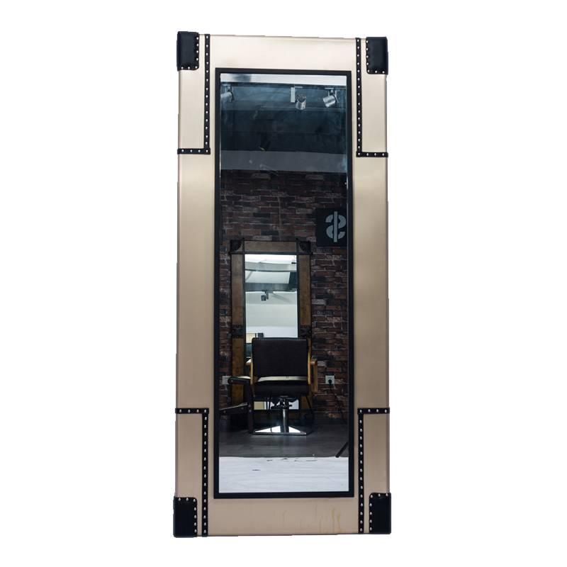 Fashion design wall mounted single side beauty salon furniture styling station salon mirror for any decoration