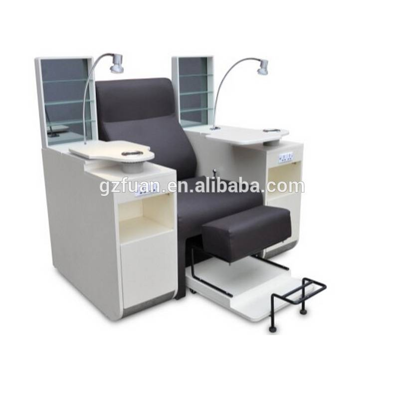 Nail salon luxury new style cheap wholesale manicure chairs comfortable nail pedicure spa massage chair from Guangzhou China