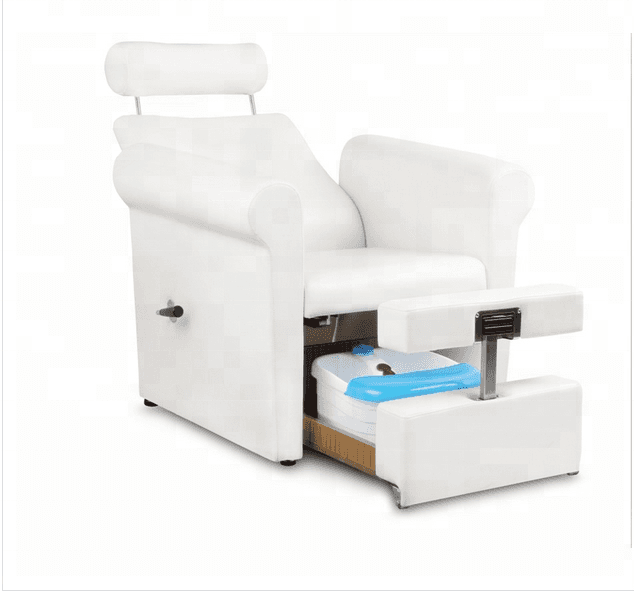 Guangzhou custom nail salon portable white modern foot spa massage no plumbing manicure spa pedicure chair luxury for sale