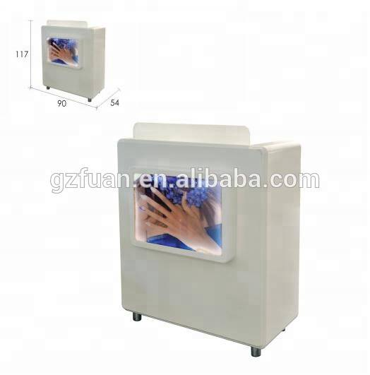 Fashional reception desk cashier table for beauty nail salon