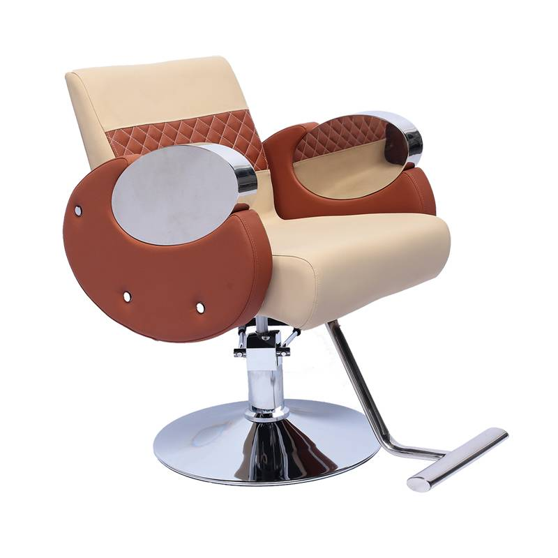 Stainless steel armrest portable hair barber reclining portable styling chair hair salon furniture