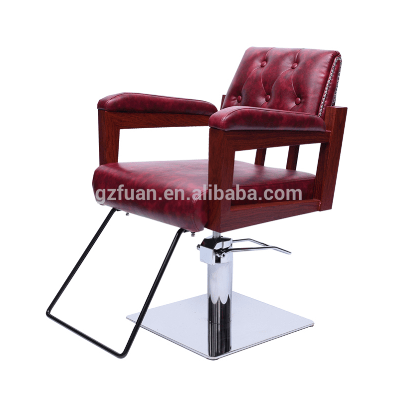 China supplier commercial furniture salon chairs prices red barber chairs sale