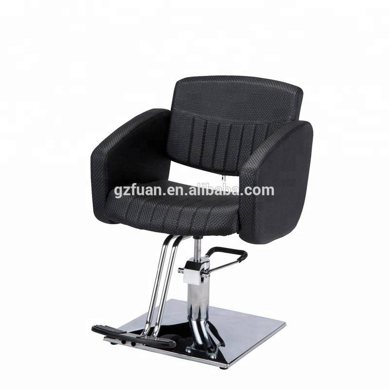 Guangzhou factory wholesale beauty salon chair no reclining furniture hydraulic men's barber styling chair hair salon chairs Featured Image
