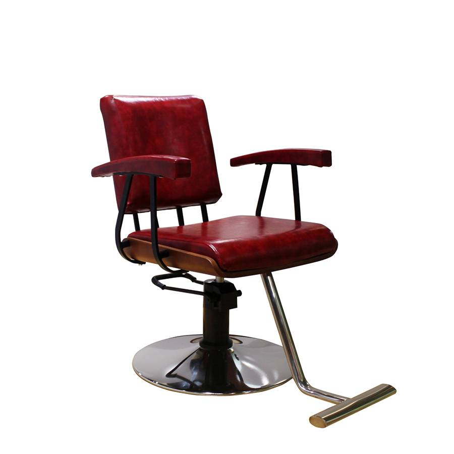 red vintage hair salon no reclinging hydraulic gold barber chair