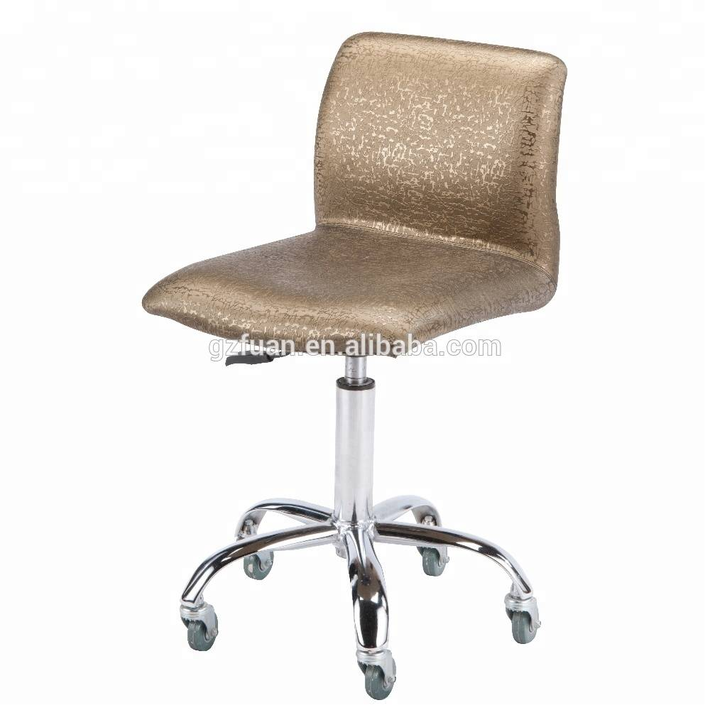 manufacturer direct supplying aluminium alloy base hydraulic pump hair salon bar stool with wheels