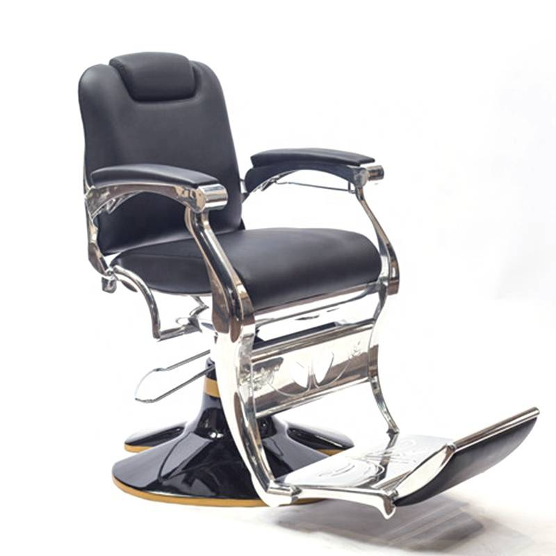 Beauty salon equipment manufacturer aluminium frame special big pum cheap price man barber chair for sale