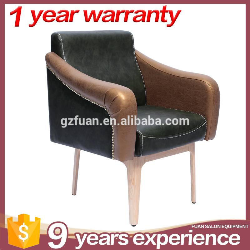 Cheap OEM vintage humanization design sponge backrest salon chairs