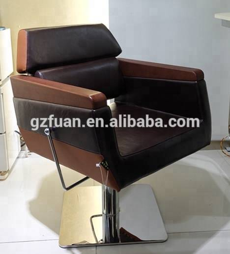 Wholesale price durable synthetic leather reclining hairdressing styling chair wood armrest barber shop furniture manufacture