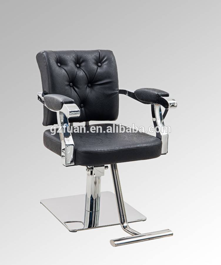 Salon furniture hairdressing supplies barber chair manufacturer professional black makeup portable hair styling chair for sale