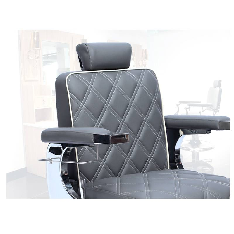 Genuine leather salon furniture man heavy duty hairdressing barber chair reclining chair