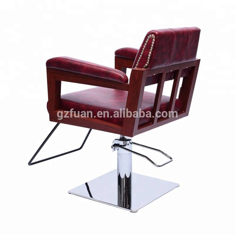 Fashion hair salon red beauty parlour durable portable salon furniture reclining hair styling chair
