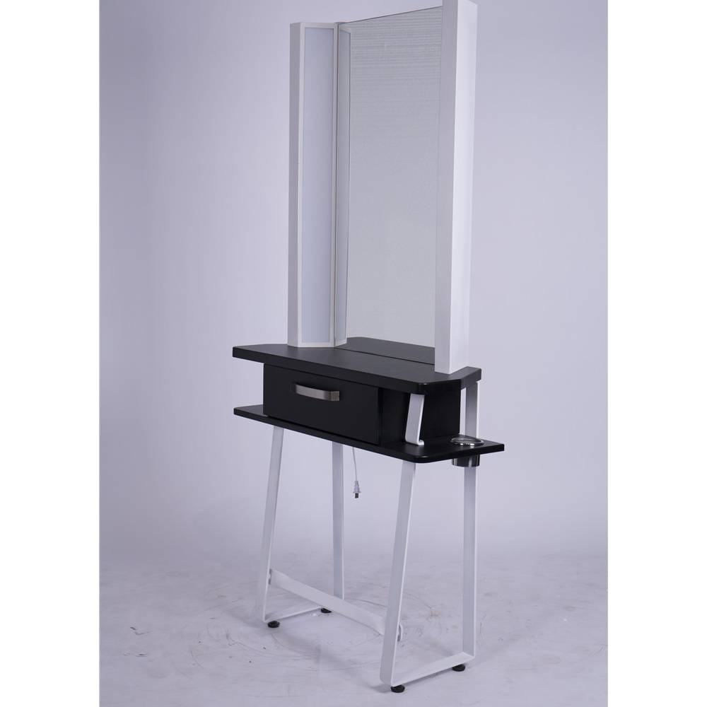 Salon furniture equipment modern barber hairdressing styling white beauty hair salon styling stations with lights