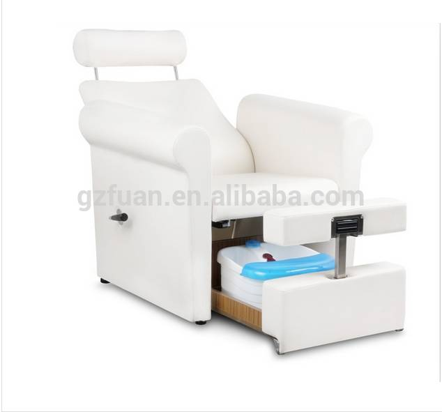 used salon furniture white pipeless throne pedicure chairs