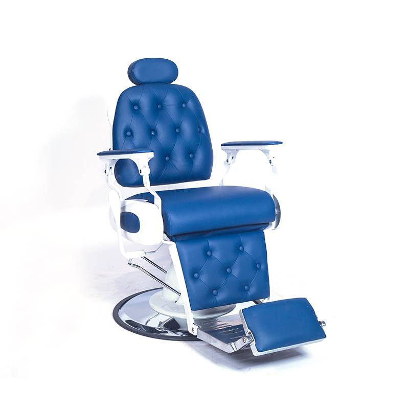 Sale man hair cutting hairdressing salon styling chair hydraulic heavy duty reclining blue barber shop furniture chair vintage