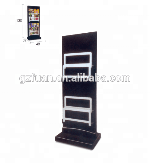 Metal Periodical Book Display Stand / Magazine Display Rack (TKN-552)