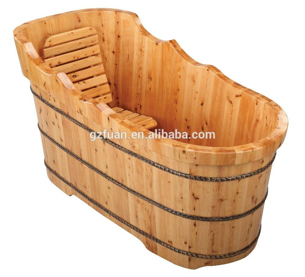 New style salon furniture antique popular cheap foot basin bath sandal wood barrel