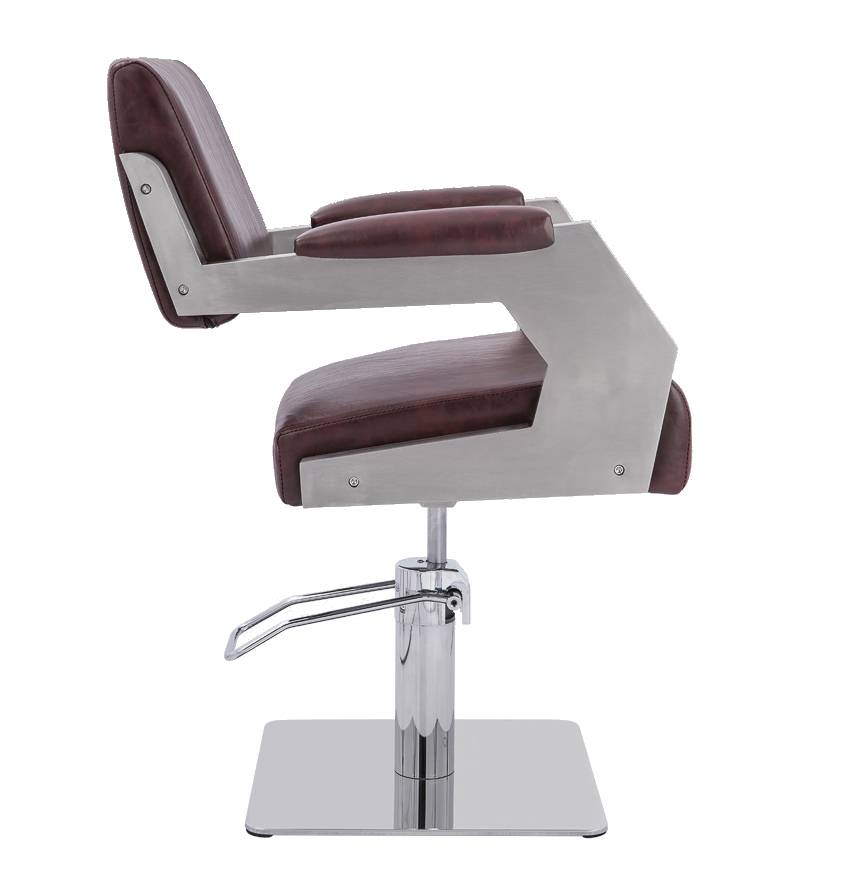 Wholesale stainless steel antique vintage barber chair hairdressing chair for salon Featured Image