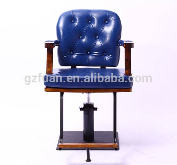 blue hydraulic pump synthetic leather small barber chair