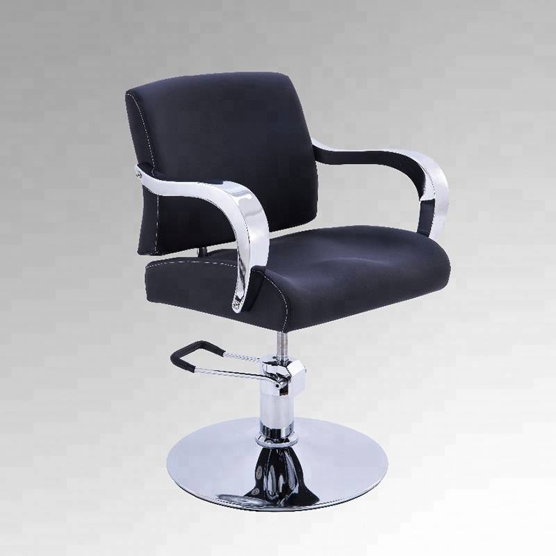 Guangzhou mingyi furniture salon black cut styling chair hairdressing chair beauty hair salon chair for wholesale