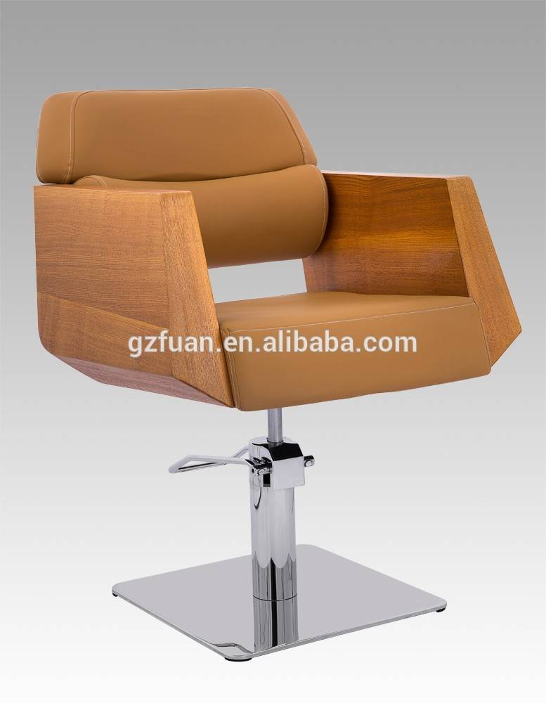 Cheap solid wood armrest barber chair