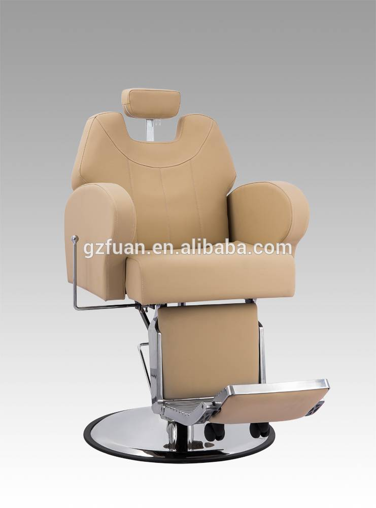 Strong spacious barber chair of salon equipment