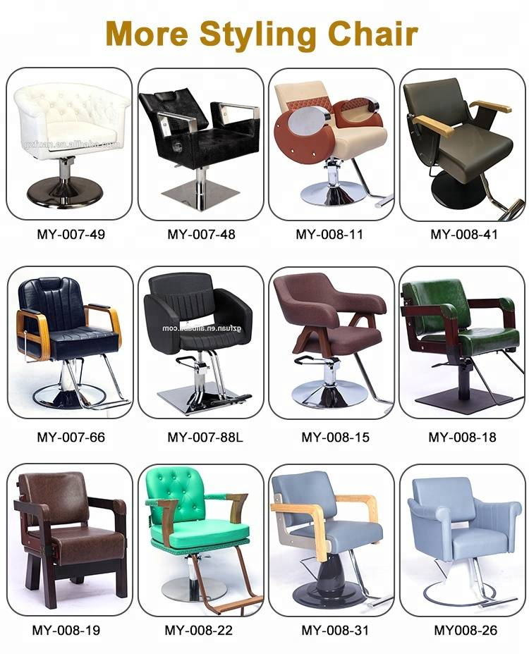 Custom salon chair sizes beauty barbershop furniture adjustable backpillow manual reclining hydraulic hair salon styling chair