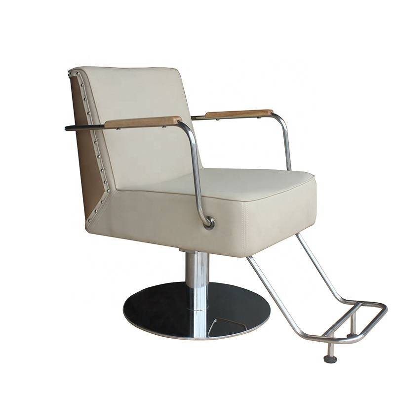 Synthetic leather luxury beauty furniture portable white men's reclining hairdresser  barber chair hair salon styling chair
