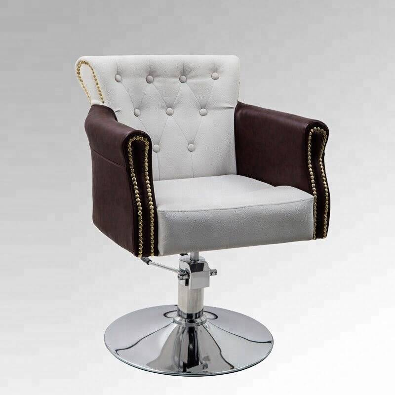 Classical salon equipment white salon chairs hair cutting styling chairs for sale