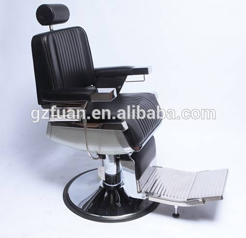 Wholesale cheap price beauty vintage black leather hair dresser portable hair styling barber chair reclining hair salon chair
