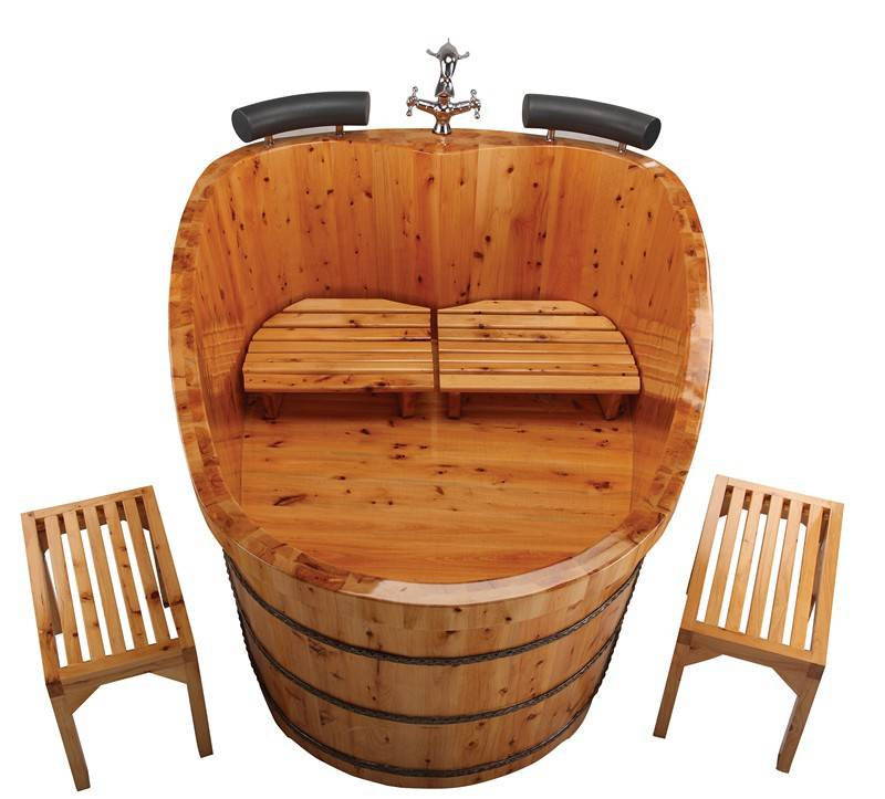 2016Hot sale salon furniture beauty cheap used wooden spa barrel