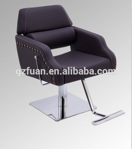 Comfortable reclining mobile barber chair of salon furniture