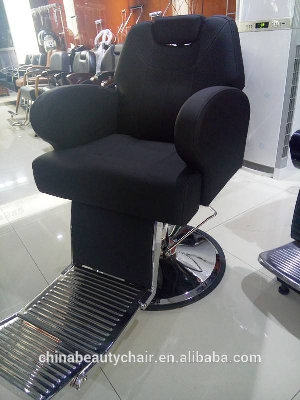 China manufacturer supply italian design men hair cutting chairs luxury black barber chairs hairdressing chair for salon