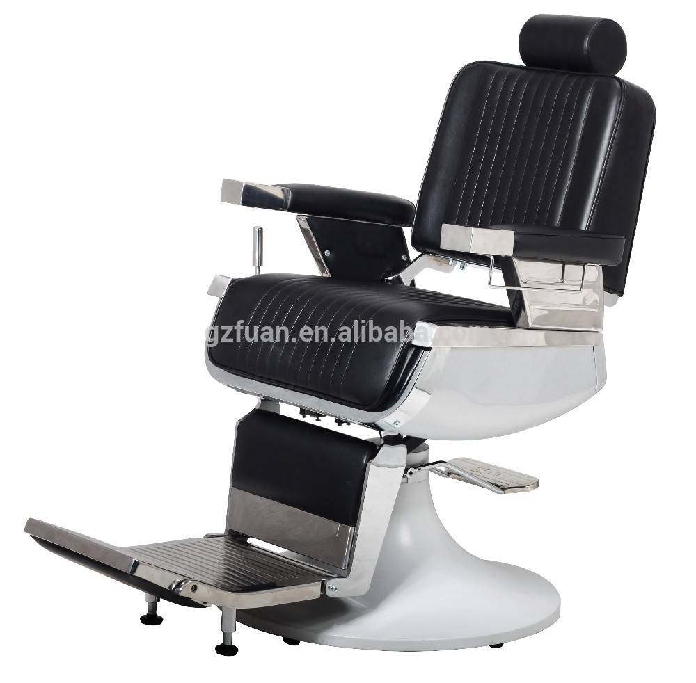 Luxury Stainless Steel Barber Chair with big round base for sale