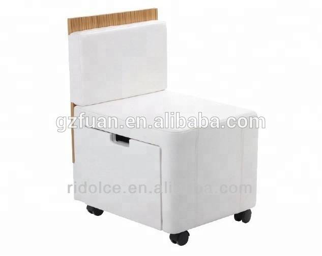 Modern functional cheap nail salon furniture cowhide bar stools for sale