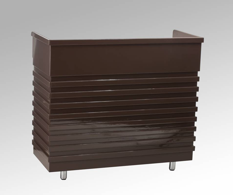 Cheap modern solid Fireproof wood material beauty salon reception desk