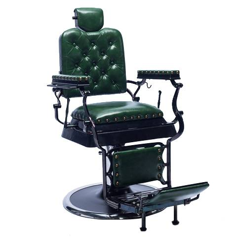 Hot sale barber shop equipment portable 360 degrees rotate backrest vintage style antique reclining hydraulic man barber chair