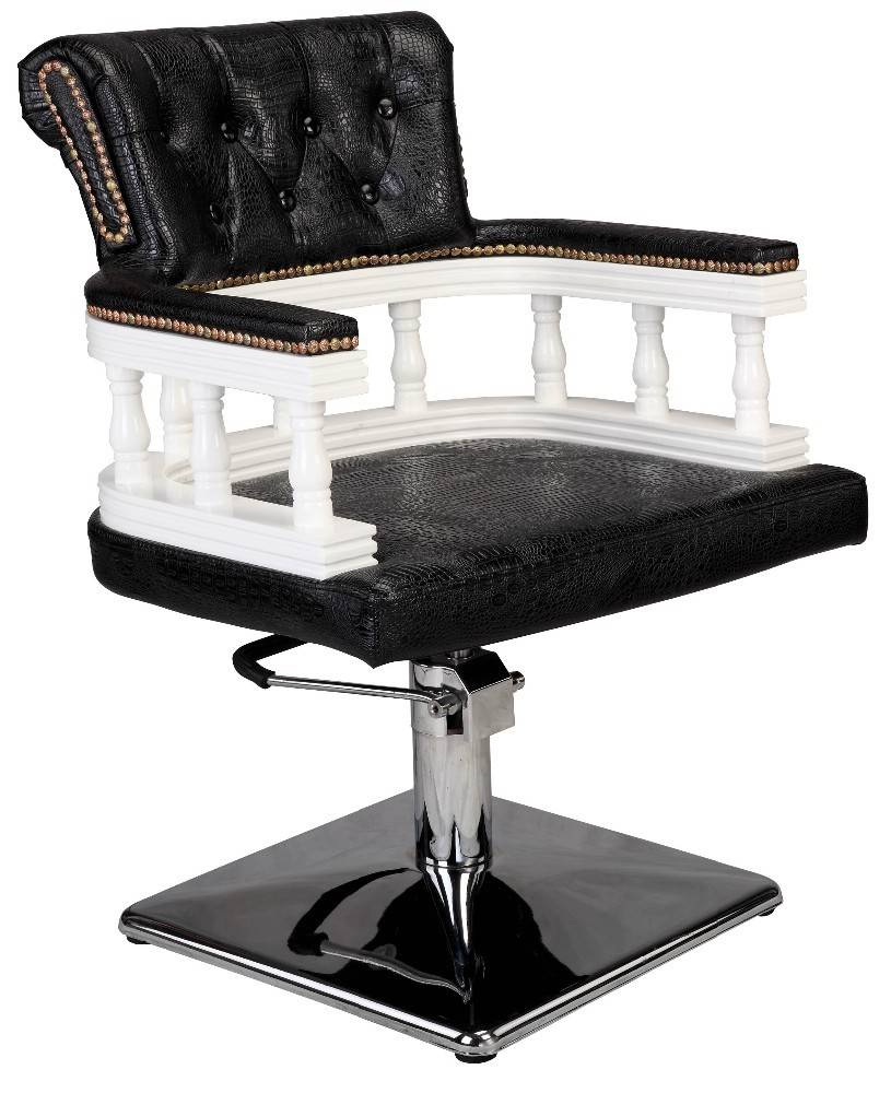 Hydraulic pump unique black antique styled durable portable used sale hair salon styling chairs